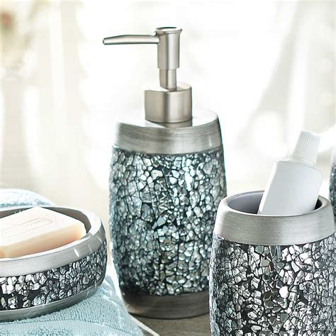 Mirrored Mosaic Accessories For Bathroom Useful Reviews Mirrored Bathroom Accessories Sets
