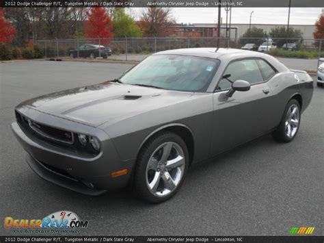 challenger gray and 2012 dodge challenger r t tungsten metallic slate