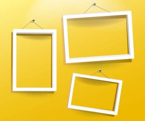photo frame design vector white frames vector