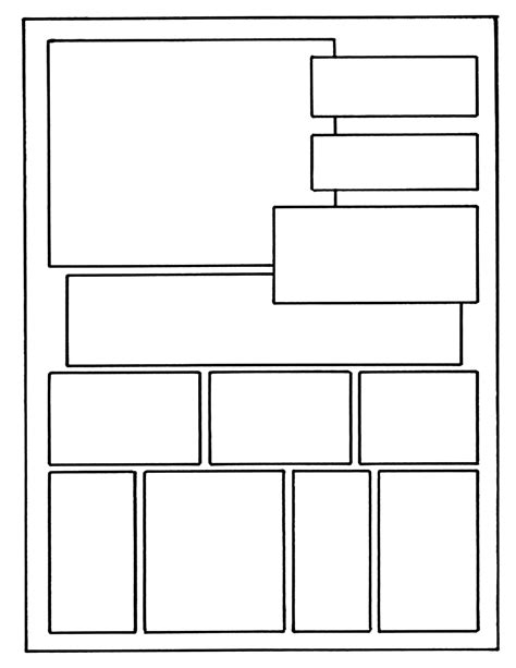graphic novel template pdf layout on 8 1 x 11 exle comic book layout