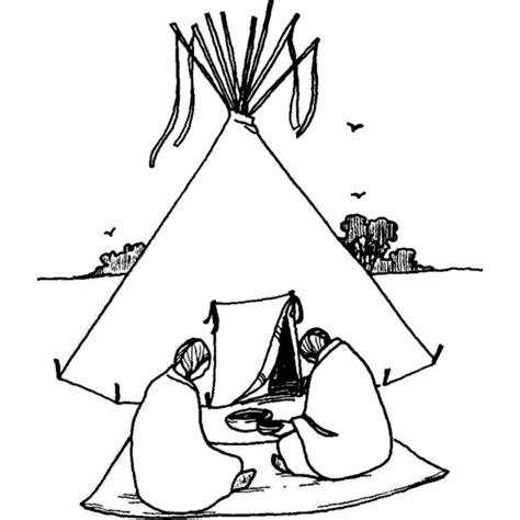 tenda indiani per bambini disegno di tenda degli indiani da colorare per bambini