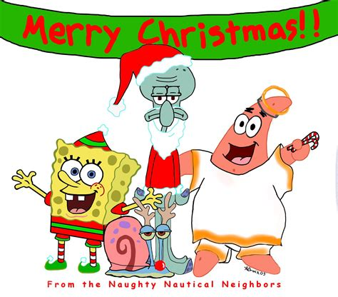 a spongebob christmas by missmands on deviantart