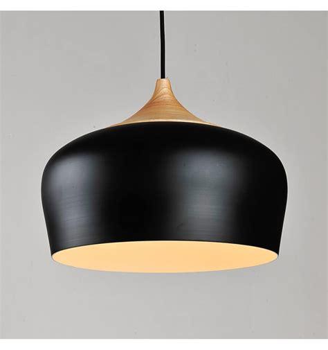 wood and metal pendant lights modern industrial pendant light made of wood and black