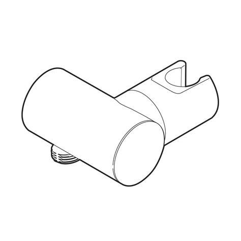 kohler forte adjustable wall mount bracket in vibrant