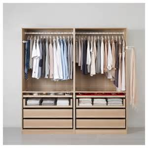Pax Wardrobe Pax Wardrobe White Stained Oak Effect Ilseng White Stained