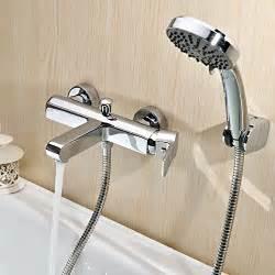 Roman Tub Wall Mount Faucet Ouku 174 Wall Mount Contemporary Chrome Center Set Bathroom