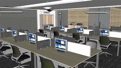 Interior Design Bari by Sketchup Animation Office Interior Bari Xemplar