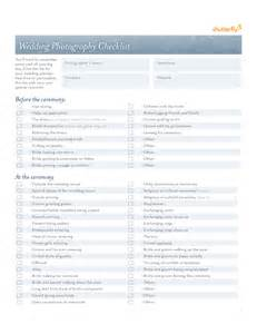 wedding photography checklist template free download