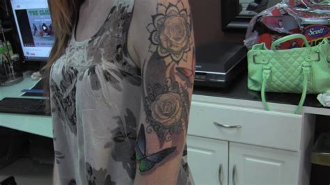 mandala tattoo sleeve youtube 1 4 sleeve tattoo with mandala flowers roses color
