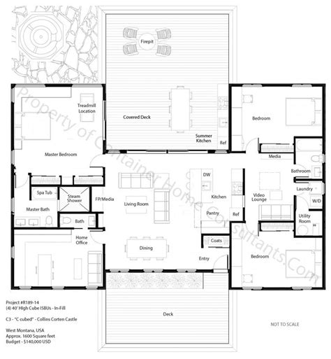 h shaped house plans h shaped container home plan house planes pinterest