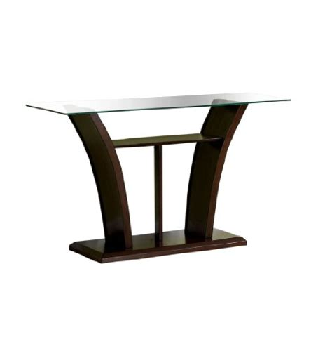 cherry sofa table with glass top furniture of america veretta sofa table with 10mm beveled
