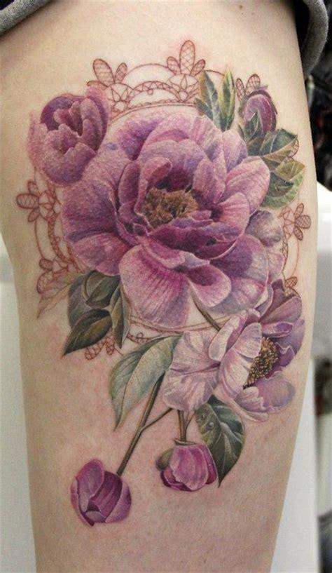 flower tattoo no black outline 15 no line flower tattoos you must love pretty designs