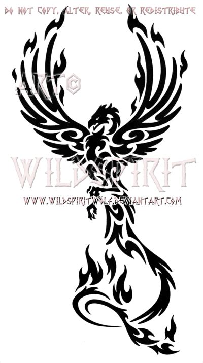 tribal tattoo designs phoenix design phoenix and rising
