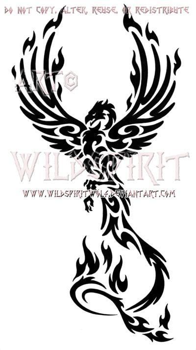 tribal tattoo designs phoenix design phoenix and rising
