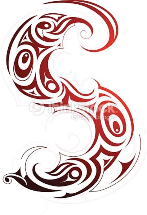 ethnische tattooform als buchstabe s vektorgrafik thinkstock
