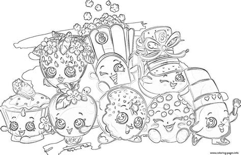 coloring pages of all the shopkins shopkins all the family coloring pages printable