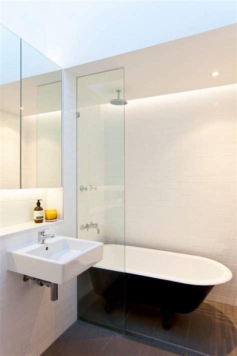 Modern Bathroom With Clawfoot Tub Modern Small Bathroom Clawfoot Tub Glass Partition Small Sink Federal Boulevard Pinterest