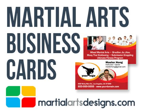 Martial Arts Business Card Templates by Martial Arts Business Cards