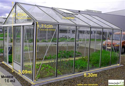 veranda 16m2 serre jardin horticole 16 m2 en verre tremp 233 aluminium