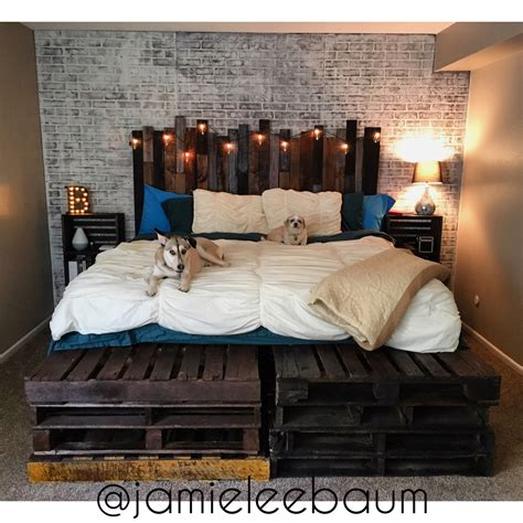 King Size Pallet Bed And Headboard Diy Rustic Industrial Headboard For King Bed Ideas