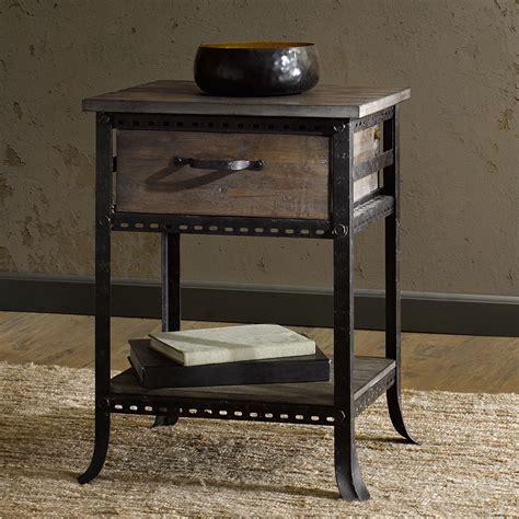 metal nightstand wood and metal nightstand
