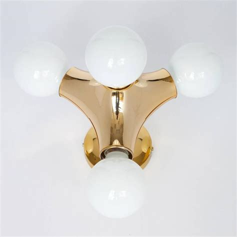 Flush Mount Wall Sconce Cosack Gold Molecule Flush Mount Wall Sconce Light At 1stdibs
