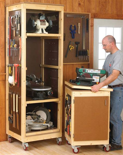 tool storage bench my bench power tool shelf rack and bench top bench by rusty lumberjocks com