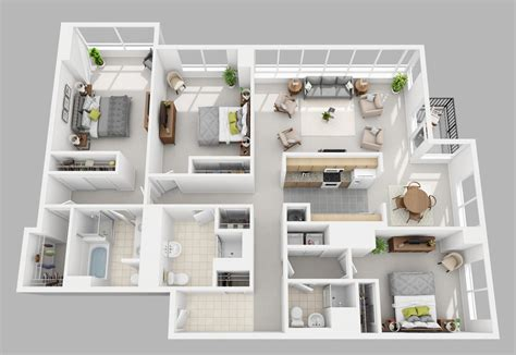 3 bed 3 bath washington square apartments luxury philadelphia apartments
