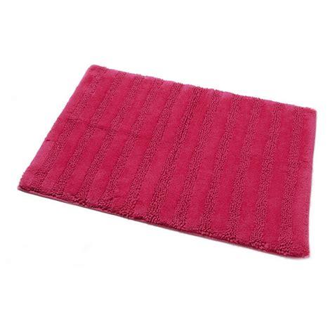 wilko ribbed bath mat pink 50 x 70cm at wilko