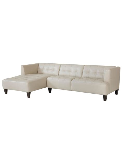 Alessia Leather Sofa Alessia Leather Sectional Sofa 2 Chaise 109 Quot W X 65 Quot D X 28 Quot H
