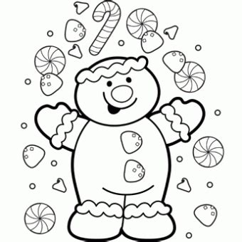 Galerry free coloring page gingerbread man