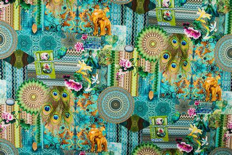 ethno deko deko stoff digitaldruck ethno collage kaufen