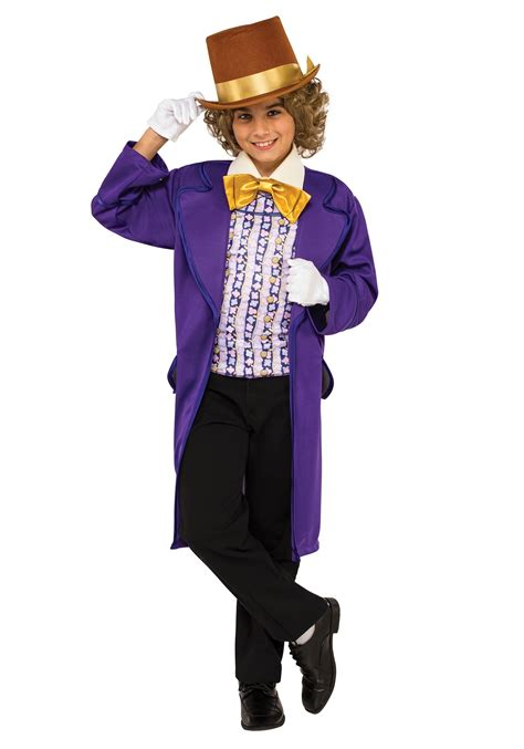 halloween costumes boys willy wonka costume