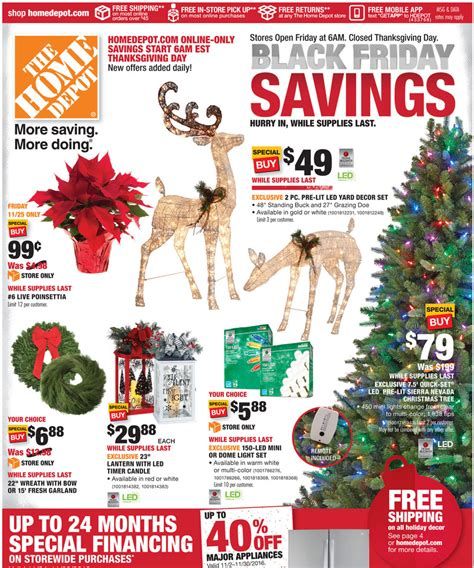 black friday christmas tree sales home depot home depot black friday 2017 ads deals and sales