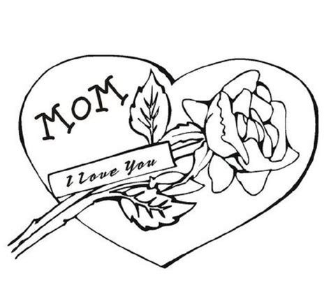 coloring pages of i love you mom flower coloring pages part 2