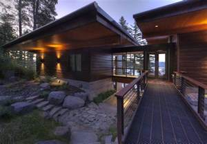 Lakefront Cabin Plans Modern Lakefront Cabin In Idaho Usa