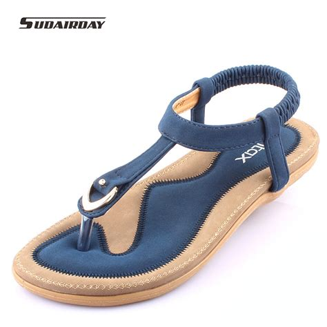 comfortable sandels new 2016 women summer style flat shoes women flat heel comfortable soft bottom sandals women