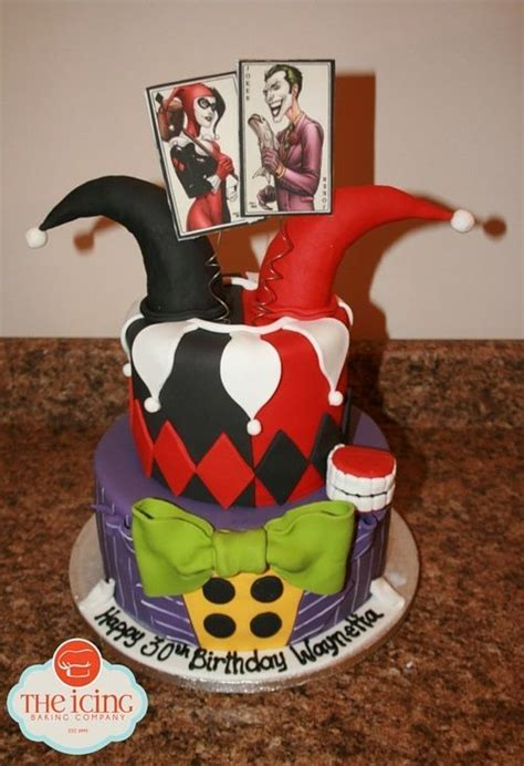 Harley Quinn and The Joker birthday cake.   Ladies