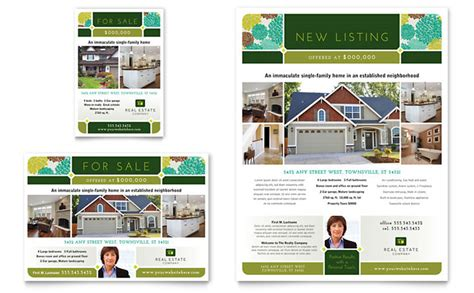 real estate listing flyer template real estate flyer ad template design