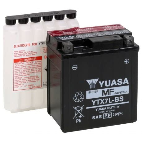 alimentatore batteria moto batterie moto yuasa 800561 ytx7l bs 12v