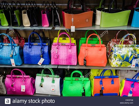 colorful handbags colorful leather handbags in a shop in tuscany italy
