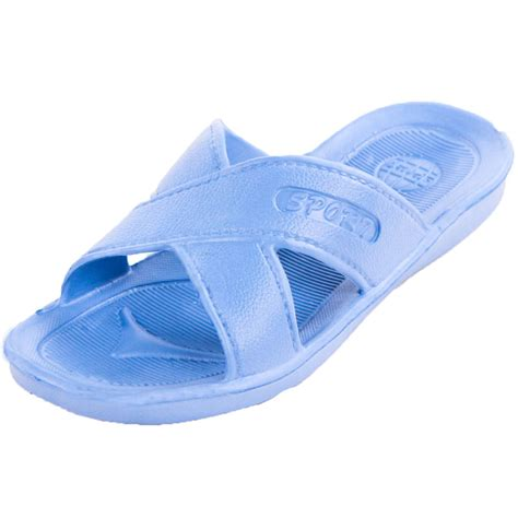 Shower Shoes by Womens Slip On Sandals Cross Slides Shower Shoes