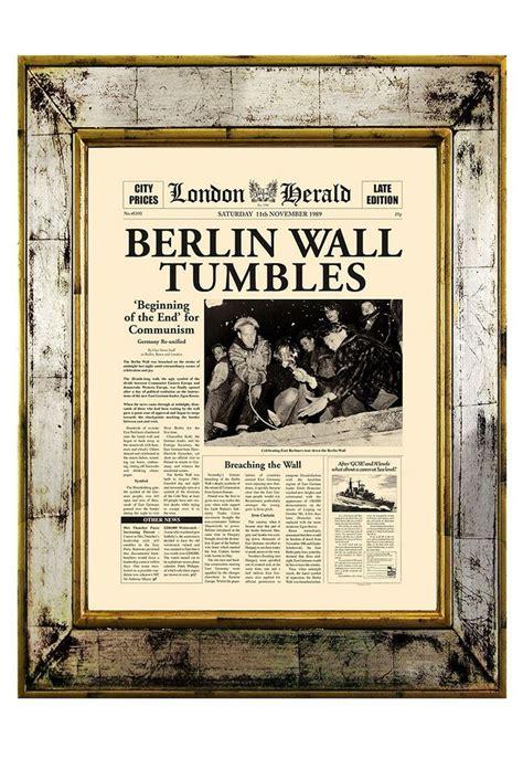 berlin wall newspaper berlin wall tumbles newspaper article deutschland
