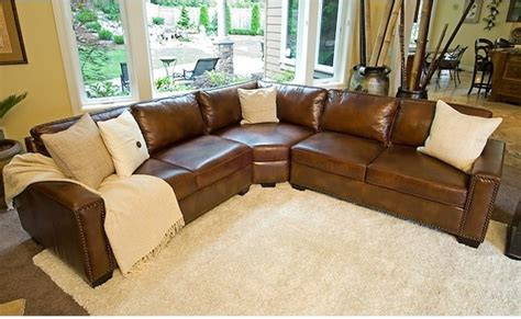 Elements Fine Home Furnishings Rustic Brown Leather Rustic Brown Leather Sofa