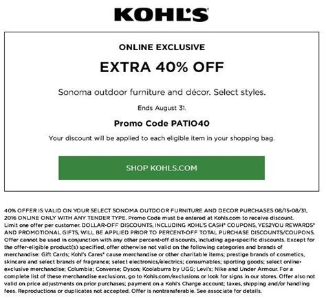 Furniture Discount Code by 29 Best Images About Kohls 30 Coupon Code On