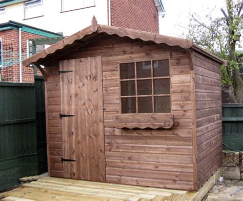 Chalet Sheds by Bespoke 8 X 6 Apex Chalet Garden Shed In Canewdon Essex