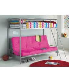 bunk bed argos buy metal bunk bed frame with futon fuchsia at argos co