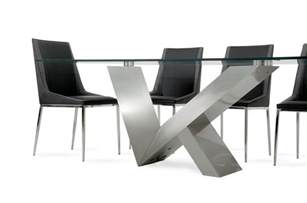 stainless steel dining room table modrest harlow modern glass amp stainless steel dining table