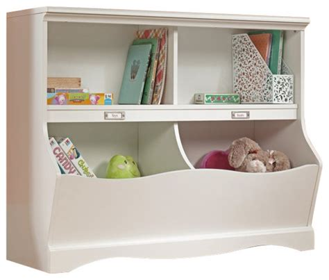 childrens bookcases and storage sauder pogo bookcase footboard soft white finish