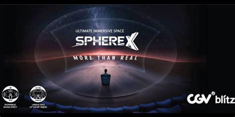 cgv lirik cgv blitz hadirkan teknologi sphere x terbesar di dunia
